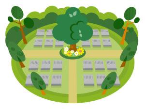 樹木葬(個別埋葬型)のイラスト